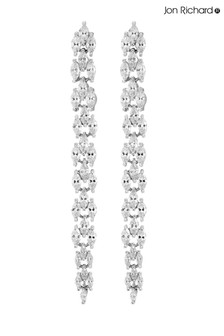 Jon Richard Silver Plated Long Multi Drop Earring