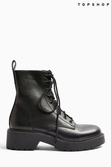 Topshop Kacy Low Lace Boots