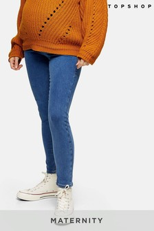 Topshop Maternity Over The Bump Short Leg Joni Jeans