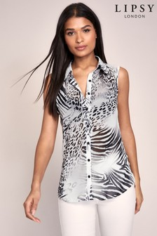 Lipsy Printed Sleeveless Shirt