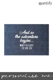 Personalised Adventure Doormat by Mattify