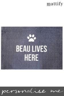 Personalised Dog Doormat by Mattify