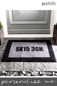 Personalised Post Code Doormat by Mattify