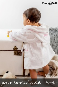 Personalised Hooded Dressing Gown by Percy & Nell