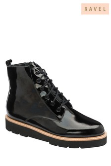 Ravel Patent Leather Ankle Boot