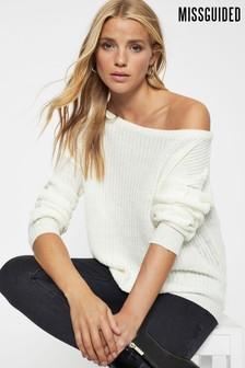 Missguided Ophelita Off Shoulder Jumper