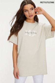 PrettyLittleThing Oversized Slogan T-Shirt