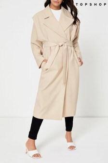 Topshop Freya Lipped Duster Coat