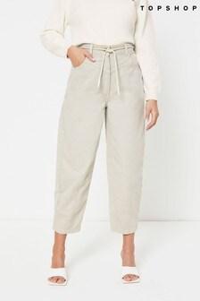Topshop Contrast Stitch Wide Leg Trouser