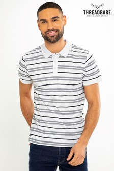 Threadbare Striped Polo T-Shirt