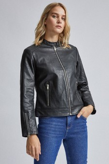 Dorothy Perkins Collarless Biker Jacket