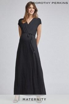 Dorothy Perkins Maternity Wrap Maxi Dress