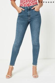 "Topshop Regular Leg Jamie Jeans 32"""" Long"