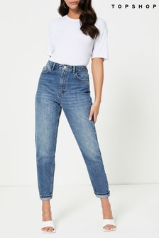 Topshop Regular Leg Mom Jeans