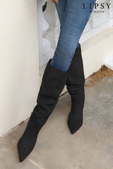Lipsy Heeled Ruched Long Boot