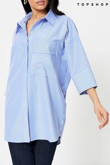 Topshop Stripe Poplin Shirt