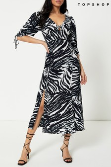 Topshop Ruched Dress