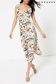 Topshop Floral Slip Dress