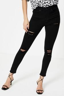 Topshop Long Leg Super Ripped Jamie Skinny Jeans