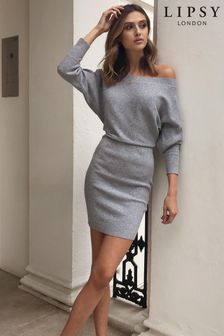 Lipsy Knitted Slash Neck Dress