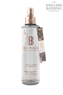 Boutique from The English Bathing Company Neroli, Pear & Gingerlily Hair & Body Mist 250ml