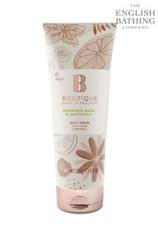 Boutique from The English Bathing Company Mandarin, Basil & Grapefruit Body Scrub 225g
