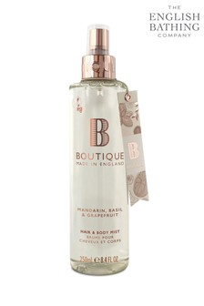 Boutique from The English Bathing Company Mandarin, Basil & Grapefruit Hair & Body Mist 250ml