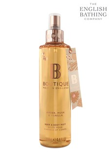 Boutique from The English Bathing Company Amber, Musk & Vanilla & Body Mist 250ml