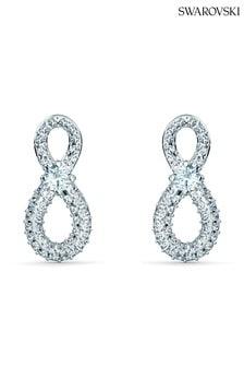 Swarovski Infinity Mini Pierced Earrings