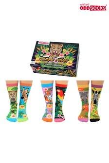 United Odd Socks Adults Jungle Fever Soft Gift Box