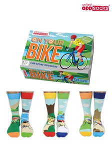 United Oddsocks Adults On Your Bike! Cycling Sock Gift Box