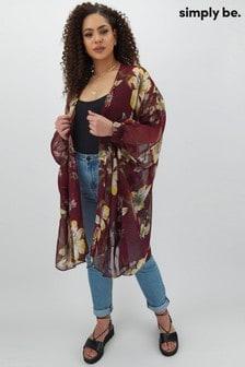 Simply Be Cuffed Batwing Kimono