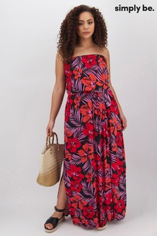 Simply Be Bandeau Jersey Maxi Dress