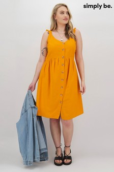 Simply Be Cold Shoulder Linen Dress