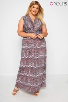 Yours Curve Knot Front Maxi Dress