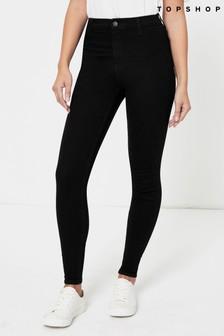 Topshop Belt Loop Regular Leg Joni Jeans