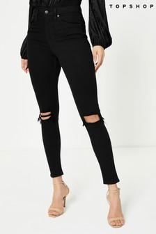 Topshop Long Leg Ripped Jamie Jeans
