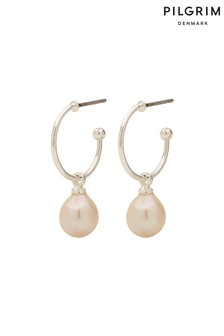 Pilgrim Eila Pearl Plated Earrings