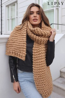 Lipsy Chunky Hand Knitted Scarf