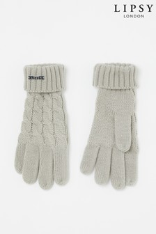 Lipsy Cable Knit Gloves