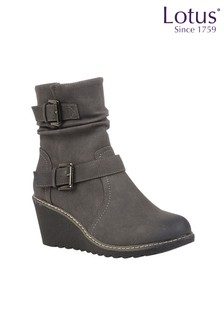 Lotus Footwear Casual Wedge Boot