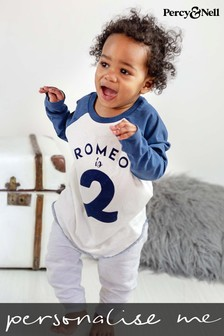 Personalised Organic Cotton Name And Milestone Birthday Age Kids Top by Percy & Nell