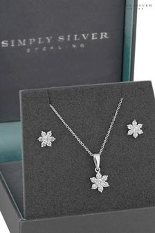 Simply Silver Necklace Star Matching Set - Gift Boxed