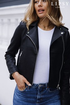 Lipsy Textured Faux Leather Biker Jacket