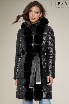 Lipsy Faux Fur Front Puffed Jacket