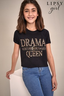 Lipsy Girl Drama Queen T-Shirt
