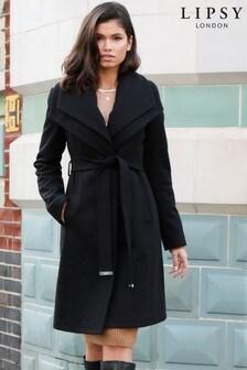 Lipsy Double Collar Robe Coat