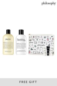 Philosophy Purity Made Simple 3in1 Cleanser and Microdelivery Exfoliating Face Wash Bundle with Gift