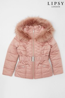 Lipsy Mini Girl Belted Padded Coat