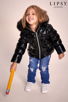 Lipsy Mini Girl High Shine Padded Coat